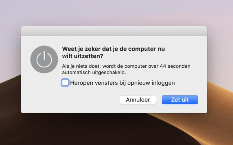 Mac vensters openen