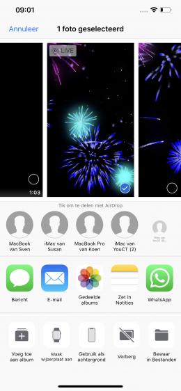 vuurwerkfoto iphone