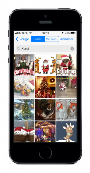 WhatsApp Kerstgroet iPhone