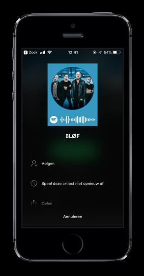 Spotify artiest blokkeren