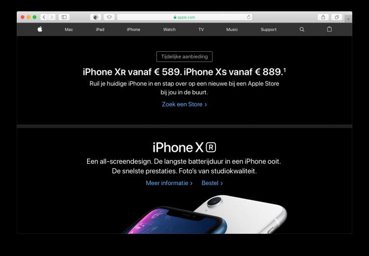 iPhone actie