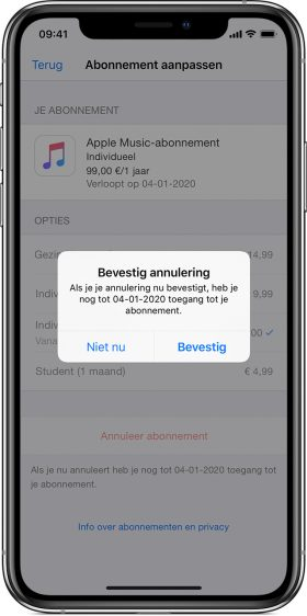 App abonnement stopzetten iphone