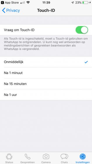 WhatsApp beveiligen