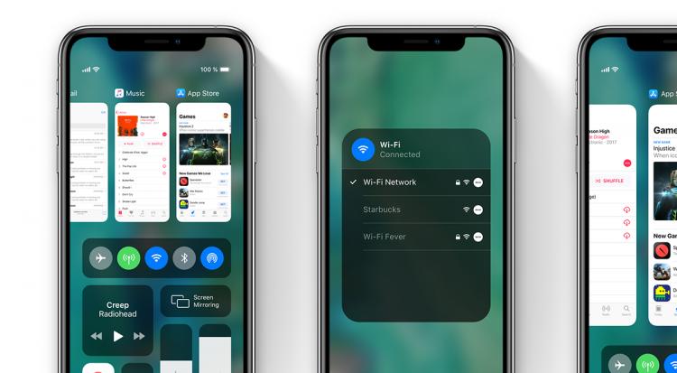 iOS 13 concept Bedieningspaneel