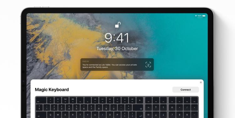 iOS 13 concept magic keyboard