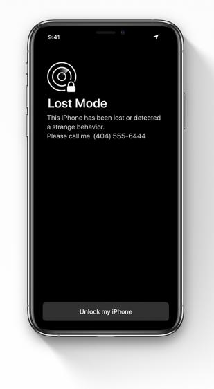 iOS 13 concept antidiefstal