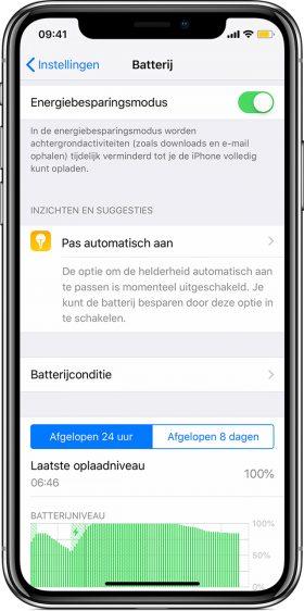 iPhone Batterij snel leeg oplossing