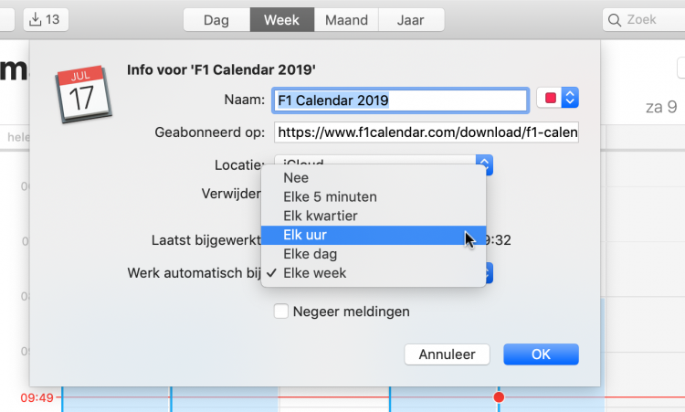 Formule 1 kalender 2019 in je agenda zetten - iCreate