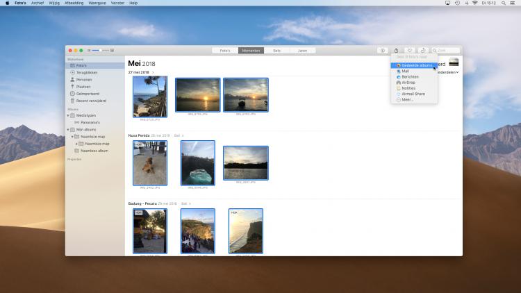 Apple foto's gedeelde albums