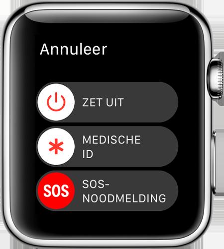 SOS-noodmelding Apple Watch