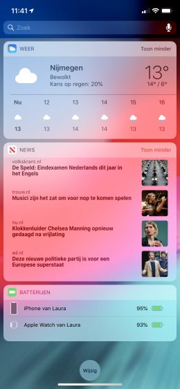 Apple News widget