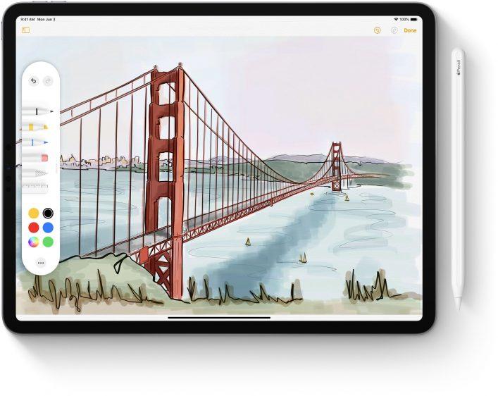 iPadOS Apple Pencil