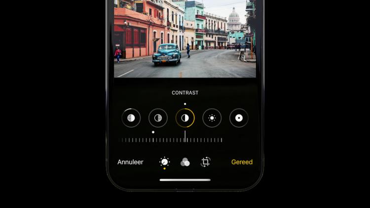 iPhone foto's bewerken