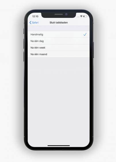 iOS 13 tabbladen sluiten iphone