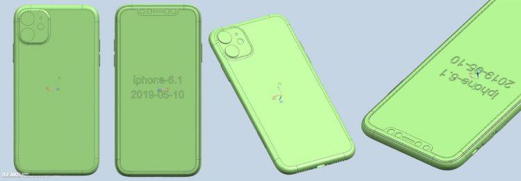 iPhone XIR CAD-tekening