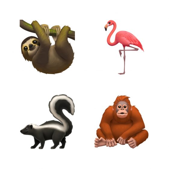 nieuwe emoji 2019 apple dieren