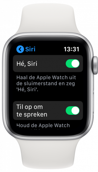 Siri uitzetten Apple Watch