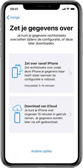 Nieuwe iPhone: gegevens overzetten