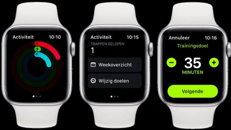 Activiteit doelen Apple Watch