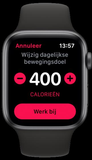 Apple Watch Bewegingsdoel aanpassen