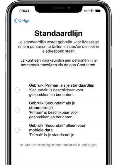 Dual sim standaard