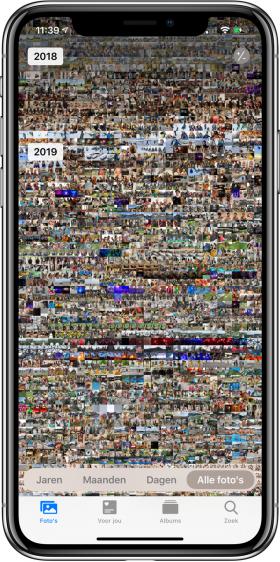 iOS 13 Alle foto's weergave