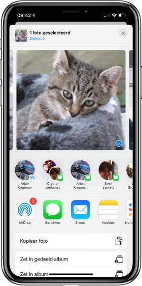 nieuwe functies iOS 13 AirDrop