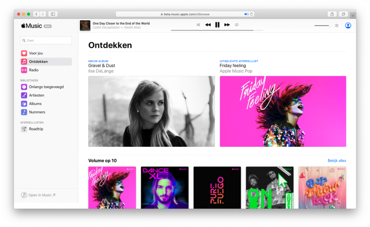 Apple Music browser