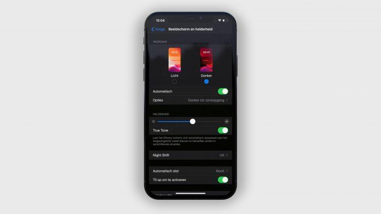 iOS 13 donker modus