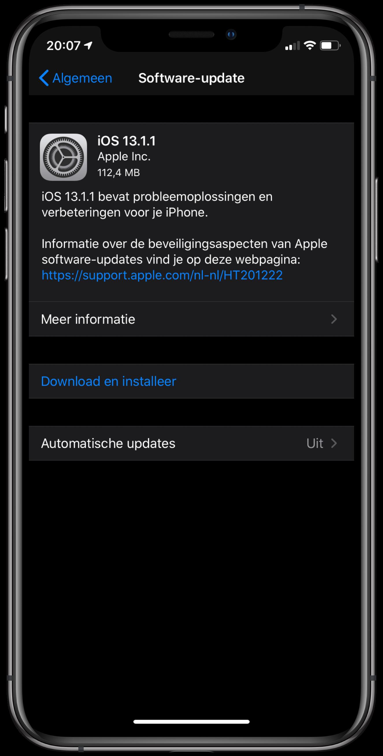 iOS en iPadOS 13.1.1 zijn uit: oplossing voor toetsenbord