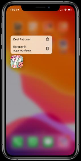 iOS 13 apps verwijderen