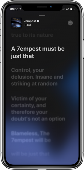 nieuwe functies iOS 13 songteksten