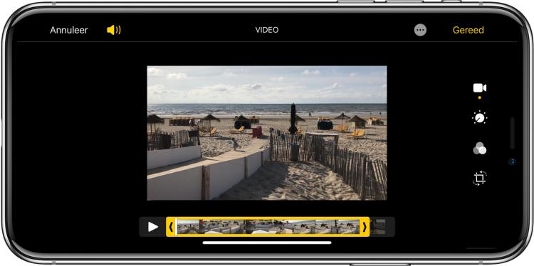 nieuwe functies iOS 13 video inkorten