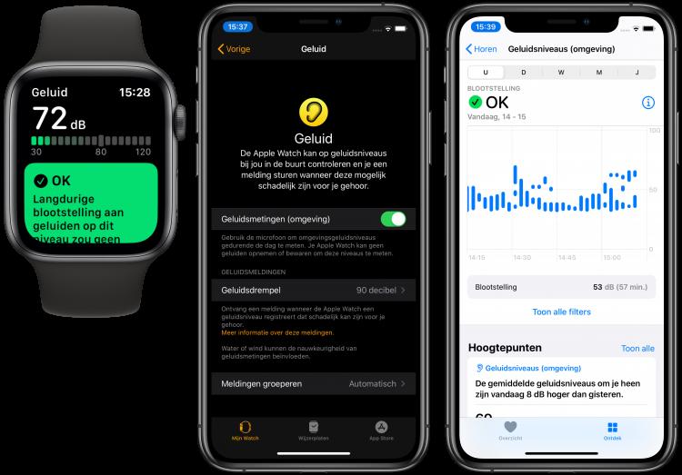 Apple Watch decibelmeter