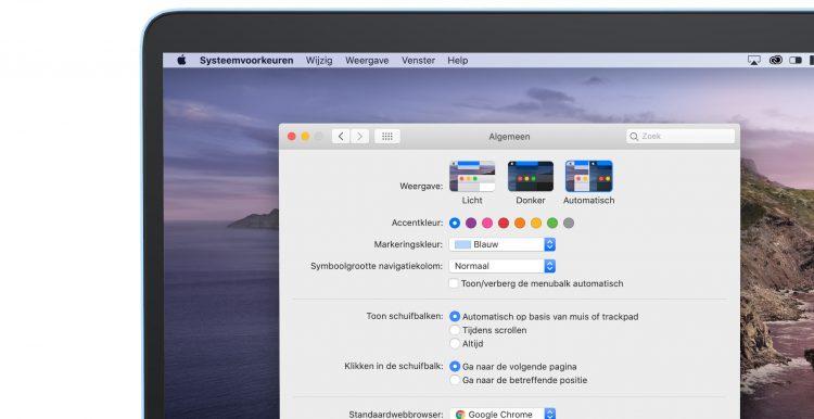 Donkere modus mac automatisch