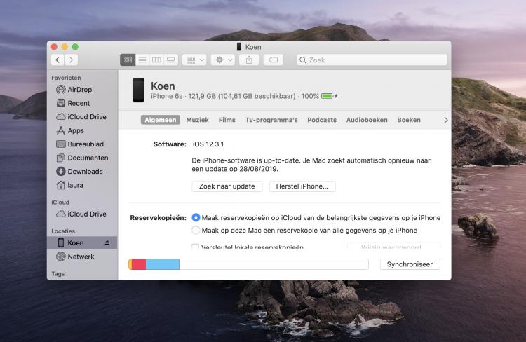 iPhone synchroniseren mac