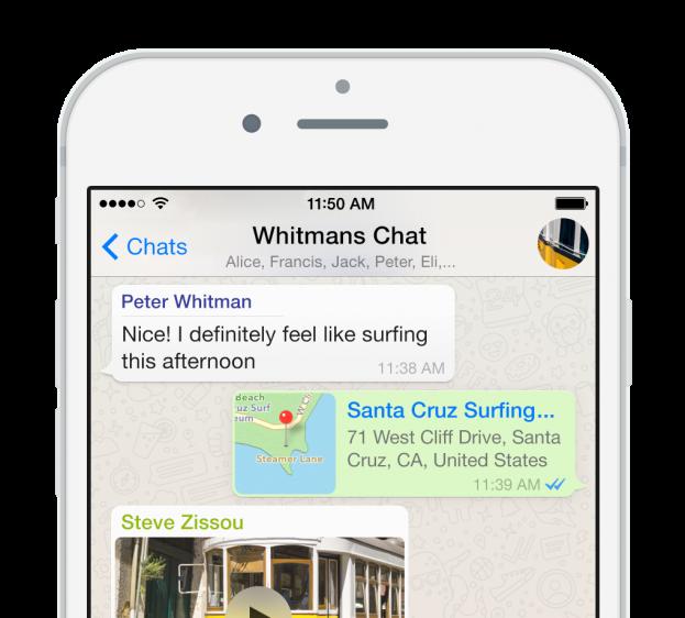 WhatsApp ondersteuning iPhone