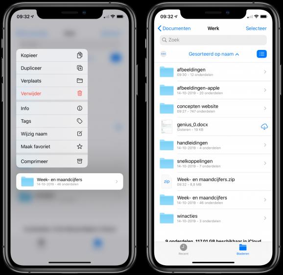 Zip bestand maken iPhone