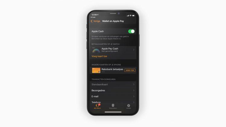 Apple Pay op Watch zetten