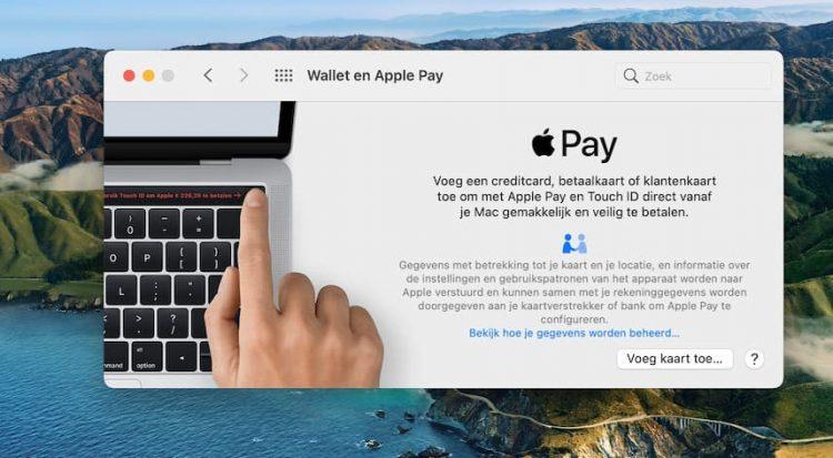 Apple Pay op Mac met Touch ID