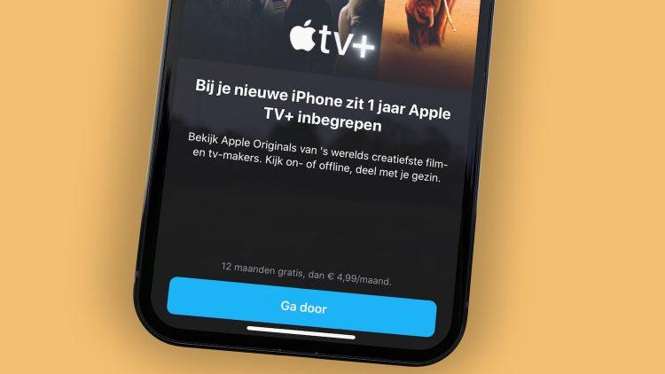 Apple TV Plus jaar gratis