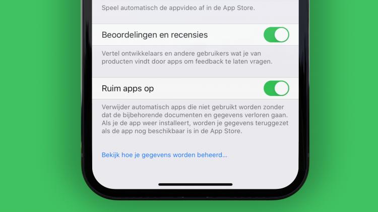 app beoordelingen uitzetten