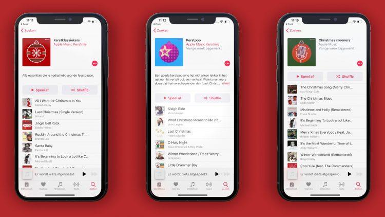 Apple music kerst afspeellijst