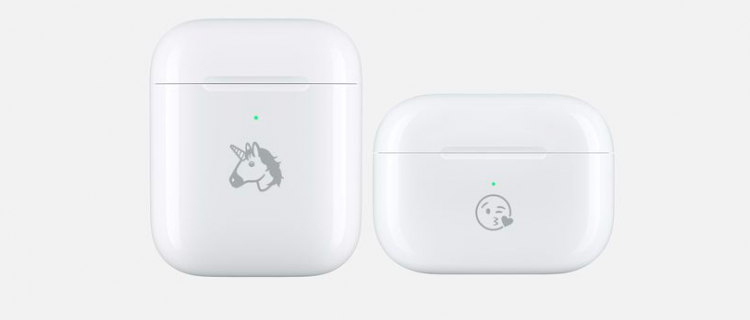 AirPods Emoji inscriptie