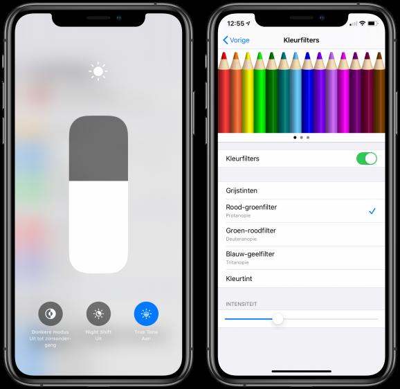 iPhone scherm geel