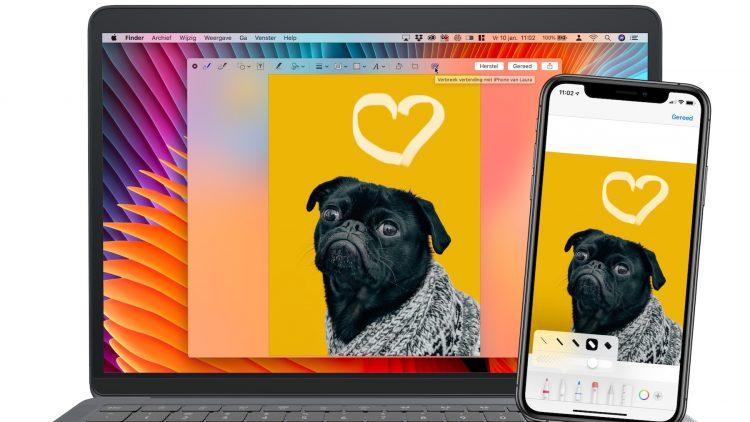 iPhone tekentablet Mac