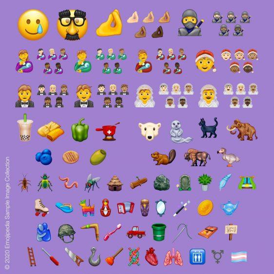 nieuwe emoji's 2020
