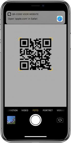 QR-code scannen iphone