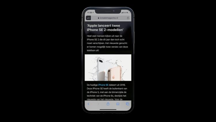 iPhone donkere modus Safari