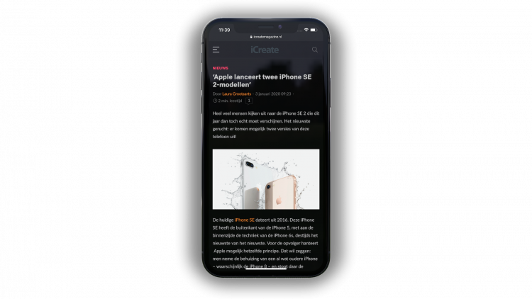 iOS Safari donkere modus
